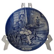 Enoch Wedgwood, Soldier Character Plate, Tunstall, Staffordshire