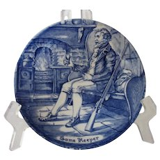 Enoch Wedgwood Game Keeper Character Plate, Tunstall, Staffordshire