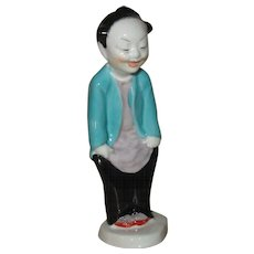 Royal Worcester Figurine, Chinoiserie Boy Laughing