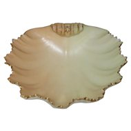 Royal Worcester Shell-Shaped Blush Ivory Bonbon Dish