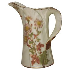 Royal Worcester Blush Ivory Spear Leaf Small Pitcher, 1891