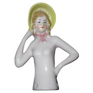 Nude Half Doll in Yellow Bonnet, Arms Separated