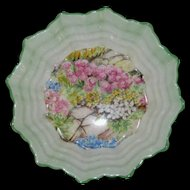 Shelley Rock Garden Chintz Small Scalloped Dish