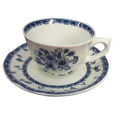 Arabia of Finland Demitasse Cup and Saucer, Finn Flower Blue Pattern