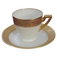 Haas and Czjzek, H & C, Schlagenwald Fine Porcelain and Gold Demitasse Set