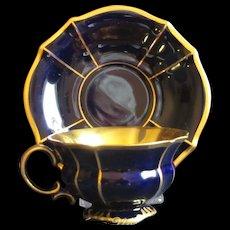 Dramatic Lindner, Bavaria Cobalt and Gold Demitasse Set