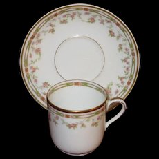 Theodore Haviland Limoges Demitasse Cup and Saucer Set