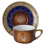 Czechoslovakian Demitasse Set, with Portrait Cartouches