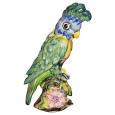 Stangl Pottery Hand Painted Cockatoo Figurine, Delicate Colors, Artist Signed