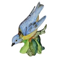 Stangl Pottery Hand Painted Western Bluebird Figurine, Artist Signed