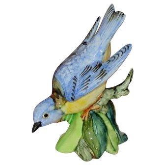 Stangl Pottery Hand Painted Western Bluebird Figurine, Artist Signed