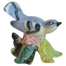 Stangl Pottery Hand Painted Cerulean Warbler Bird Figurine