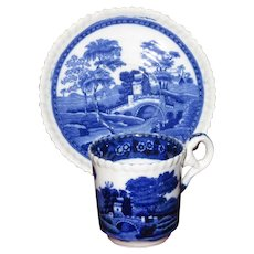 Spode's Tower by Copeland, Blue Demitasse Set
