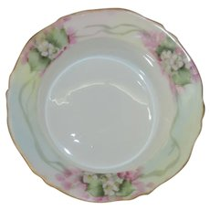 Oscar and Edgar Gutherz  Ramekin, Hand Painted Floral Signed by Artist AG Plinkhamer