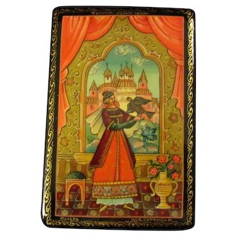 Finist the Bright Falcon Russian Lacquer Box