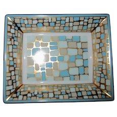 "Bernardaud Valet Tray, ""Pavage Or"" Mid-Century Modern Pattern in Gift Box"