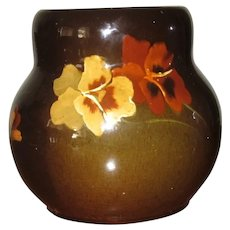 Antique Owens Utopian Pansy Vase