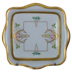 Pickard Arts and Crafts Handpainted Small Square Dish