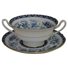 Exquisite Shelley Blue Heron Bouillon Cup/Underplate Set (2 of 2)