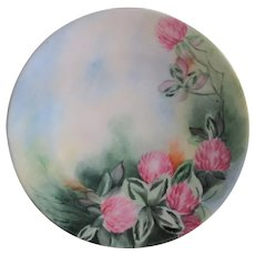 Hermann Ohme Handpainted Signed Plate, Clover Blossoms