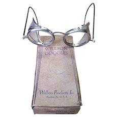 Vintage Willson Steam Punk Style Goggles