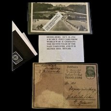 Shop Closing Sale! Historical German WWII Postcards and Stamps 1934