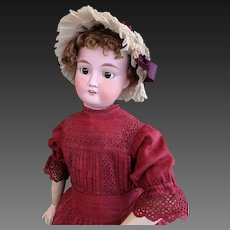 Very rare and big italian doll marked FURGA , beginning of 1900,  high 31,50 inches (80 cm)