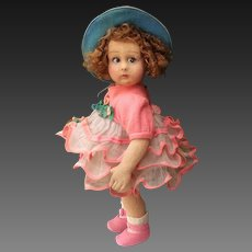 Antique  12 inches  LENCI ITALY doll  seires 111 , all original