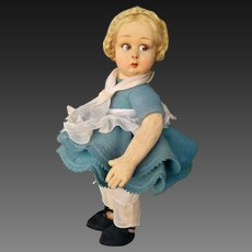 Delightful funny Lenci felt doll , series 111 ,high about 12 inches (31 cm)