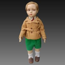 Lenci Felt Boy Doll from Italy,  110 Series, very rare , high 19 inches , original and in mint condition