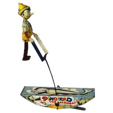 "Very interesting Wind-up toys ""Pinocchio The Acrobat Watch Him Go!"" . From 1939 -Marx Toy Company-  tin lithograph wind-up toy"