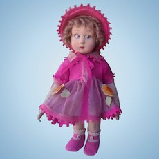 Italian  LENCI  doll , seires 111 , all original about 12 inches high