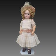 Spectacular antique doll Tete Jumeau, close mouth, red stamp , size 13, high about 29 inches (73 cm). PERFECT