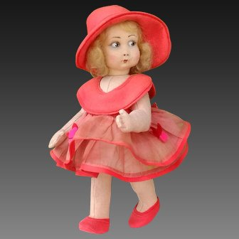 Very Rare and nice  Early Lenci Doll , 10 inches, circa 1923
