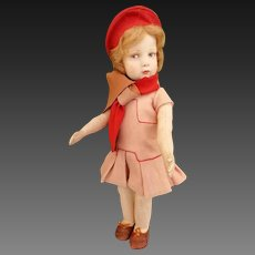"All original 22"" italian Lenci doll 109 series"