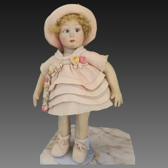 "Little Lenci doll in cabinet size (13"") 111 series, 20s of 1900"