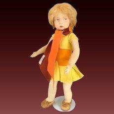 "22"" italian Lenci doll 109 series, all original, circa 1930"