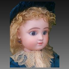 Stunning antique bisque doll Steiner series  C6 . All Original , 1880 , perfect bisque head