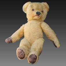 "Very rare blond mohair  Teddy Bear with opening mouth,  20 ""tall, France 1890s"