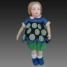 Stunning rare Lenci doll, 900 series, Italy, late 1920s