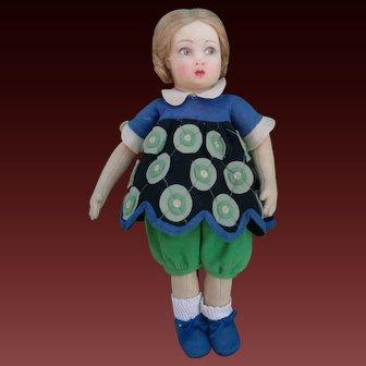 Stunning rare Lenci doll, 900 series, Italy, late 1920s