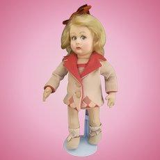 Very sweet Lenci doll , series 2000 , high 12, 5 inches (32 cm).