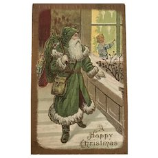 """""""Father Christmas in Greene""""  (1910')"""