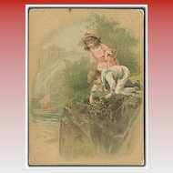 """Picking Flowers""  (1889)"