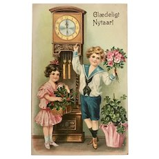 """""""Cute little Children with Flowers""""  (1910')"""