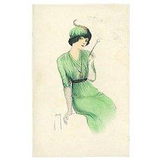 """""""Woman in Green""""  (1917)"""