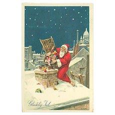 """Santa Claus dropping Christmas Presents down the Chimney""  (1963)"
