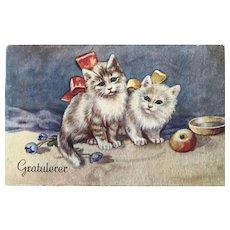 """Two sad Kittens""  (1950')"