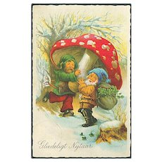 """""""Merry Goblins with Toadstool"""" (1938)"""