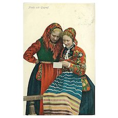 """Women in traditional Swedish Costumes""  (1908)"